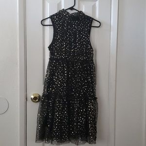 Black and gold tulle dress(NWOT)